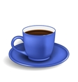 Photo Realistic Cup of Coffee Isolated vector image vector image