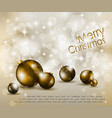 merry christmas elegant vector image vector image