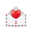Heart in the open postal envelope vector image