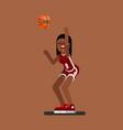 bascketball female player vector image