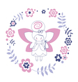 Design with fairy vector image