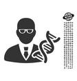 genetic engineer icon with people bonus vector image