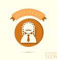 icon avatar judge symbol of justice vector image