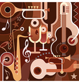 musical collage vector image