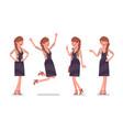 pretty female office employee feeling positive vector image