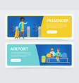 set of flat design banners airport theme vector image
