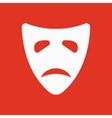 The sad mask icon Tragedy and theater symbol vector image