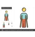 Walking crutches line icon vector image