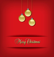 Classic Christmas background vector image vector image