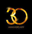 template 30 years anniversary congratulations vector image vector image