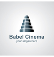 babel cinema vector image