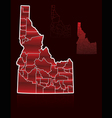 counties of idaho vector image