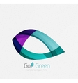 Green concept geometric design eco leaf vector image