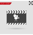 art Film clapper board icon Flat Style vector image