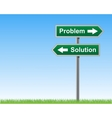 Road sign problems and solutions vector image vector image