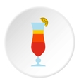 Fruit cocktail icon flat style vector image