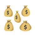 moneybag icon set vector image