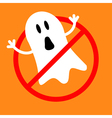 No Ghost monster Prohibition no symbol Red round vector image