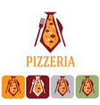 pizzeria for businessman and icon set flat design vector image