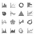 Set of chart icons vector image