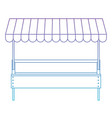 supermarket shelf with big storage of one level in vector image