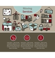 Delivery services warehouse logistic moving home vector image