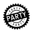 party rubber stamp vector image