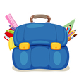 School bag vector image vector image