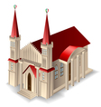 Old church building vector image