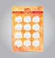 Watercolor vintage calendar template 2015 vector image