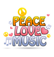 peace love music vector image vector image