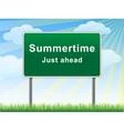 Summertime just ahead billboard vector image