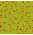 Autumn berries seamless pattern Big bunches of vector image
