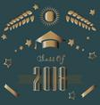 graduation class of year 2018 vector image