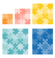 jigsaws puzzle in various size vector image