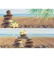 massage spa stones vector image