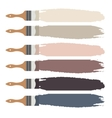 Paint brush icon and color swatch strokes vector image