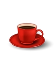 Photo Realistic Cup of Coffee Isolated vector image