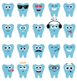 Set of teeth icons with different expressions vector image