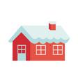 christmas gingerbread house sugar decoration vector image