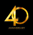 template 40 years anniversary congratulations vector image vector image