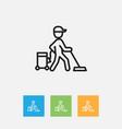 of cleanup symbol on carpet vector image