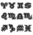 Grunge Zodiac Rubber Stamp Symbols vector image vector image
