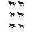 horse or pony symbol set vector image