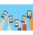 Mobile apps set vector image