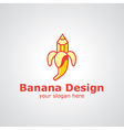 banana design vector image