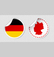 germany sticker with flag and map label round tag vector image