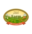 Lable for organic farming products vector image