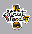 logo for street food vector image