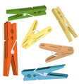 Pegs vector image